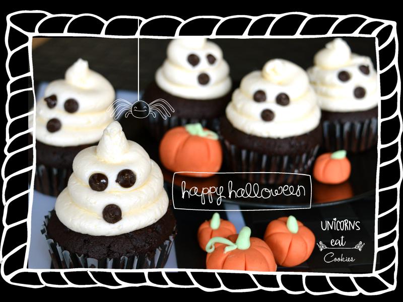 halloween, unicorns eat cookies, cupcakes, vegan, vegano, ricette vegane, ricette dolci vegane, dolci, cioccolato, fantasmini, ricette di halloween