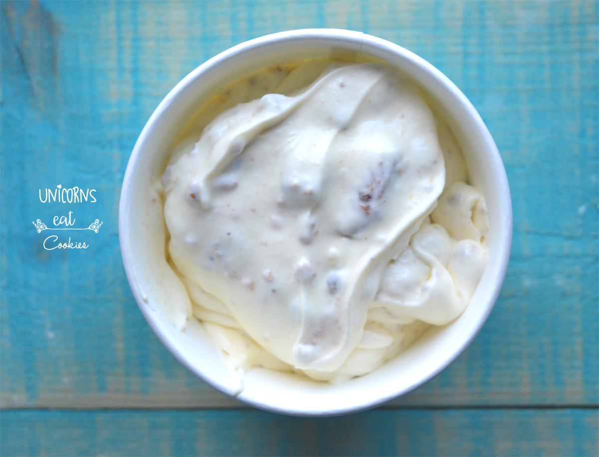 Gelato, ice cream, fatto in casa, homemade, recipe, ricetta, senza gelatiera, senza macchina, no ice cream machine, cookies, senza uova,