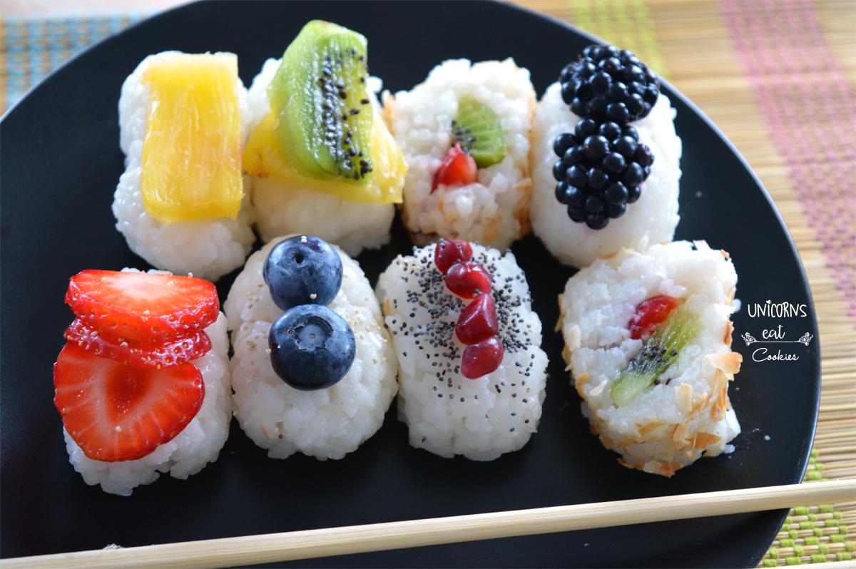 Sushi, dolce, sweet, recipe, ricetta, frutta, fruit, dessert, strawberry, pineapple, fragole, ananas, kiwi, video