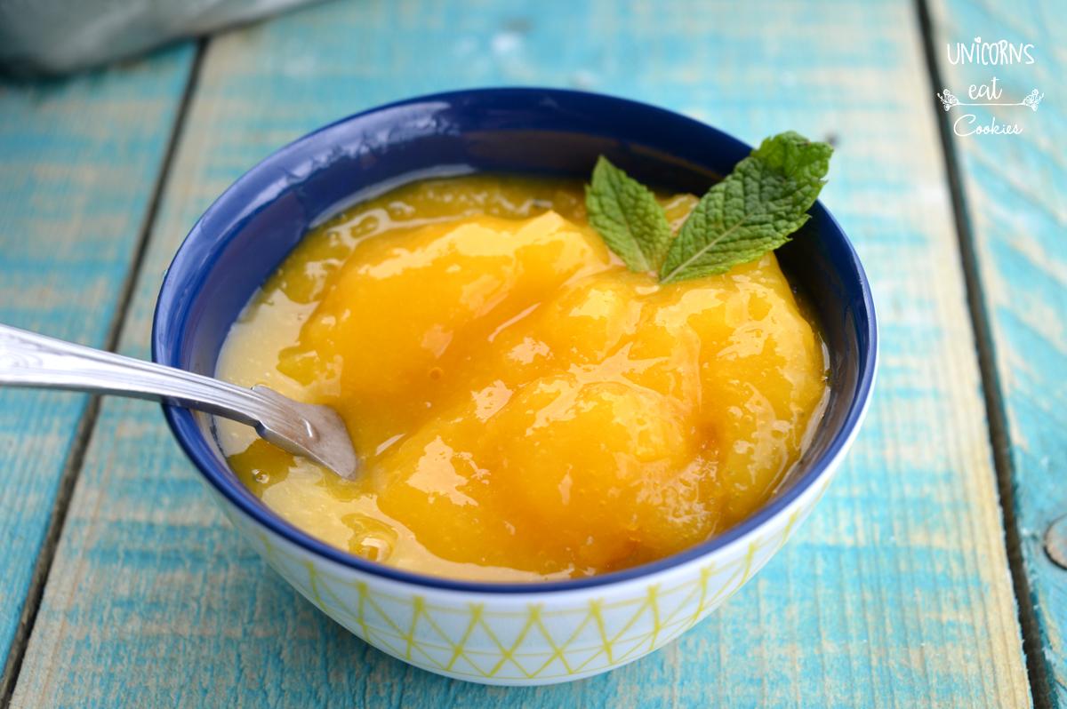 Sorbetto al mango, mango sorbet, mango, ice-cream, gelato, fatto in casa, homem made, senza gelatiera