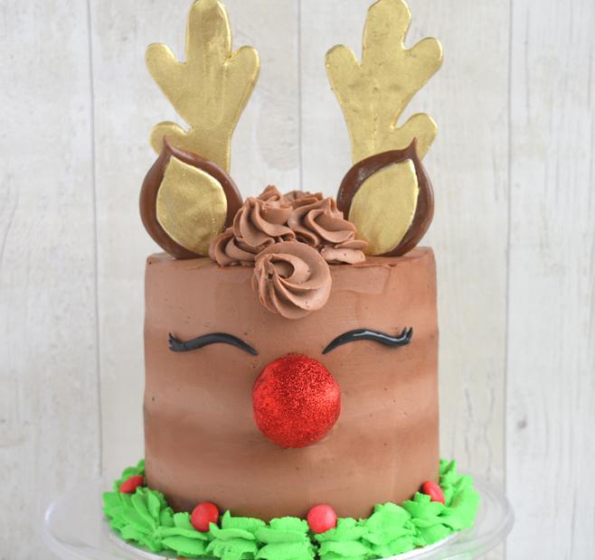 Torta renna di babbo natale, torta Rudolph, torta al cioccolato senza burro, torta moretta, torta renna, reindeer cake, torta di natale, dolci di natale, santa claus reindeer cake, Christmas cake,