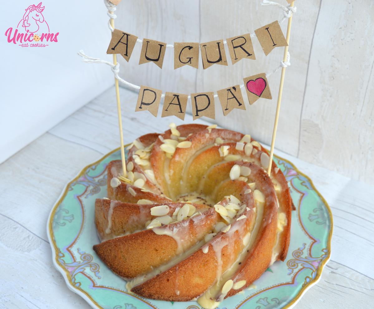 ricetta ciambella all'amaretto e mandorle per la festa del papà idea torte