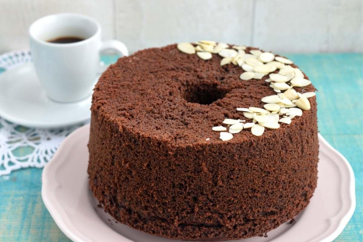 ricetta facile chiffon cake cacao e caffé cioccolato
