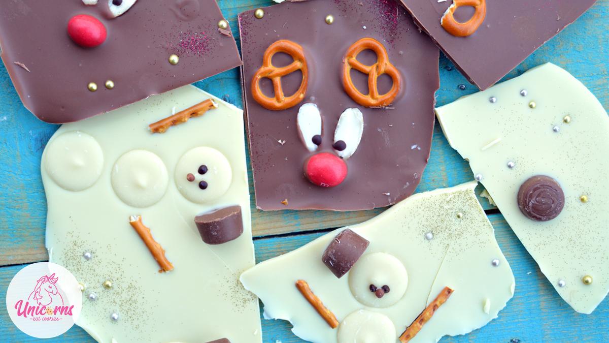 cioccolato cioccolata renna, cioccolato cioccolata pupazzo di neve, ricette di natale facili, dolci di natale, ricetta con smarties, progetti di natale con bambini, dolci senza cottura, cioccolato decorato renna e pupazzo di neve