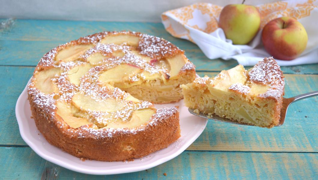 torta di mele light senza burro e senza olio
