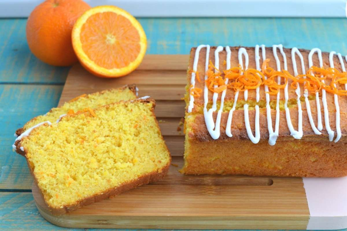 torta con arancia frullata