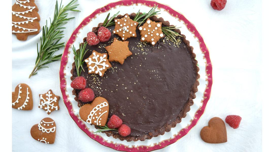 torta giulio frolla al cacao con caramello salato e ganache al cioccolato