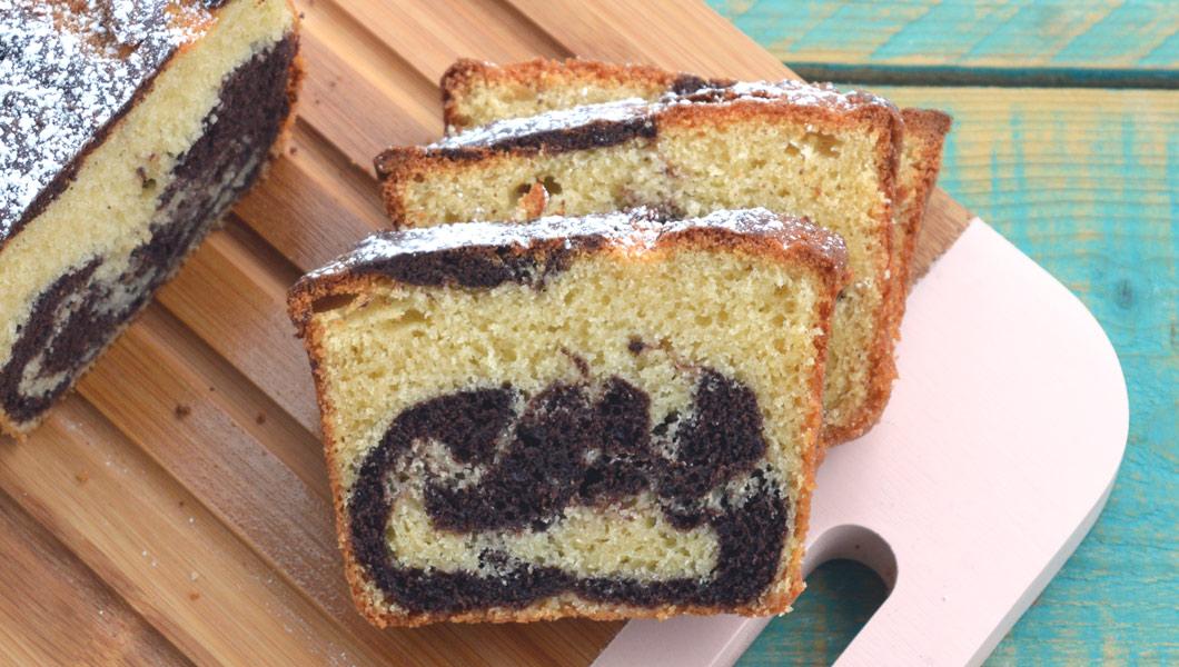 ricetta facile plumcake panna e cacao marmorizzato