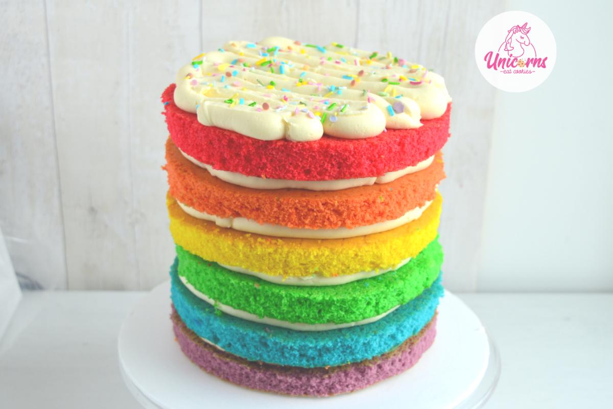 torta arcobaleno rainbow cake facile e veloce