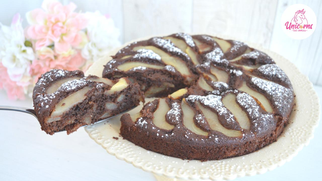 torta pere e cioccolato senza burro e senza olio