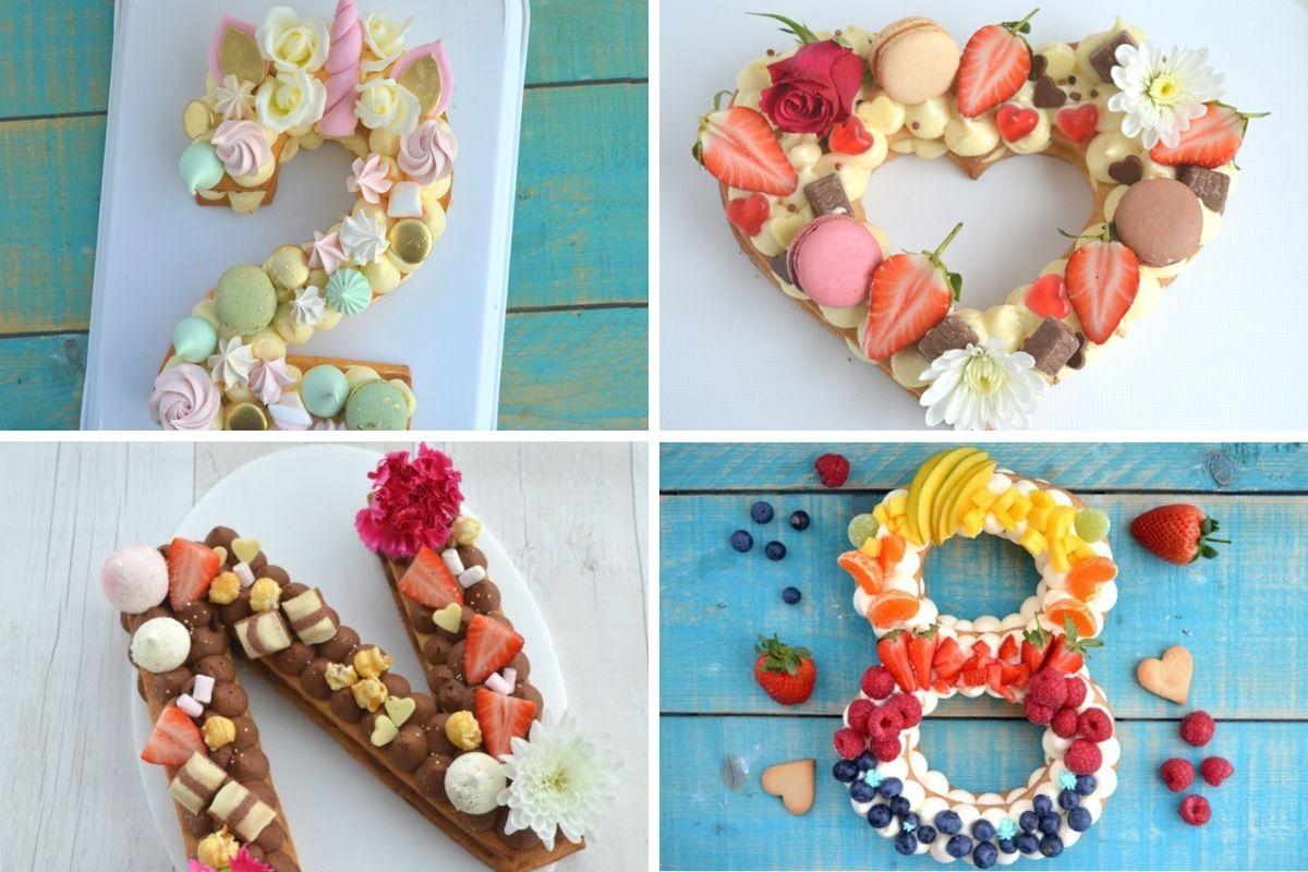 torta cuore, numero, lettera, cream tart, pasta frolla, crema, crema al mascarpone, fiori, rose, macarons, frutta, cioccolato
